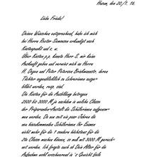Kurrent (Sütterlin) von 1916 - Übersetzung